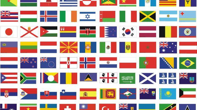 bandera del mundo